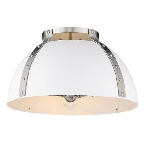 Aldrich  3 Light Flush Mount Ceiling   Steel